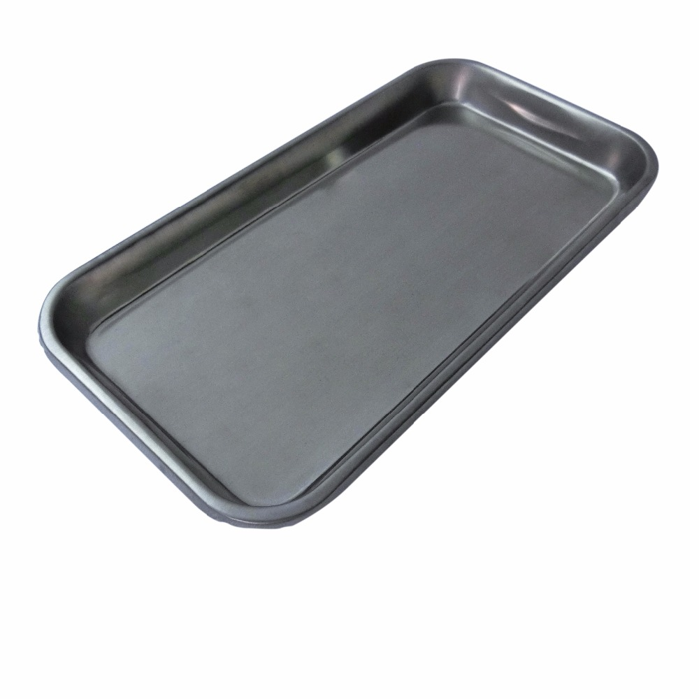 2Pcs Durable Stainless Steel Surgical Medical Dental Disinfection Tray Square Plate For Tattoo Sterilization Health Care