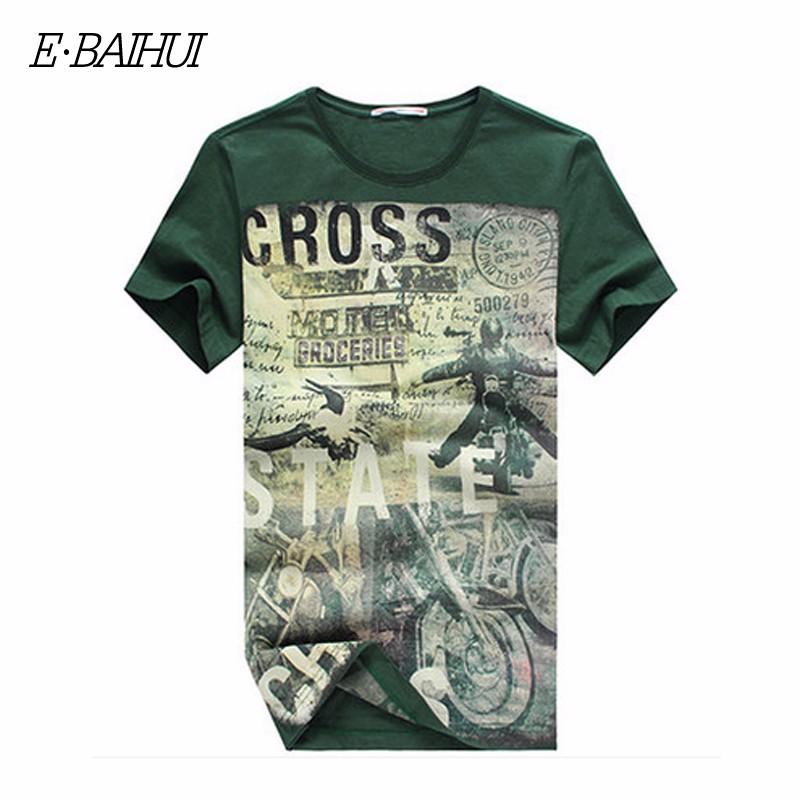 E-BAIHUI Summer Men Cotton Clothing Dsq T-shirtS Camisetas t shirt Fitness tops TeeS Skateboard Moleton mens t-shirts Y032 9