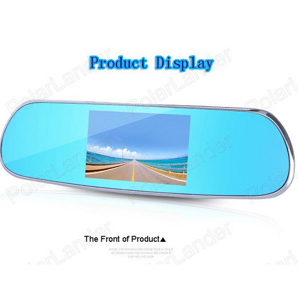 HD Touch Android Parking Rearview Mirror 5 inch GPS WiFi FM Dash Cam Dual Camera DVR