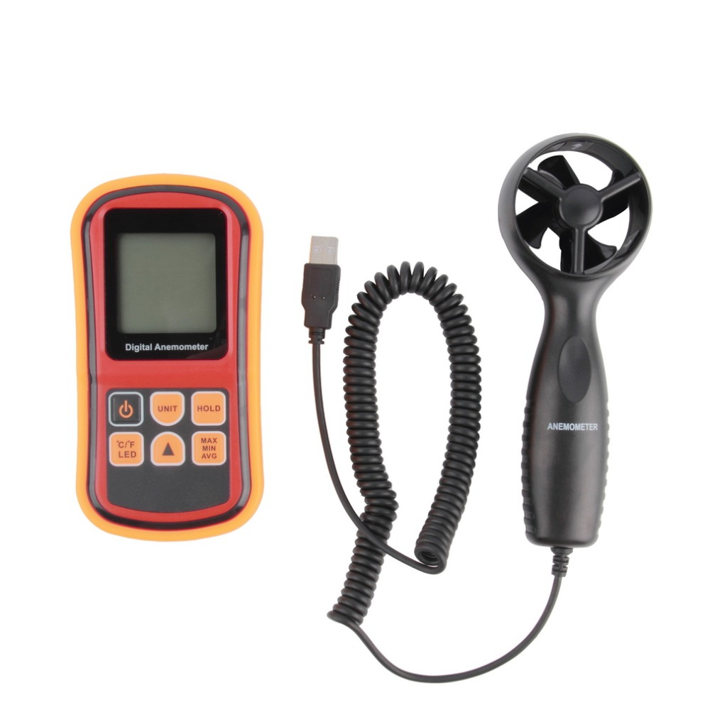 Mini Digital handheld Wind speed meter scale Anemometer Thermometer GM816A  цены
