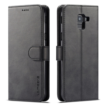 Galaxy J6 Plus Case Black Leather