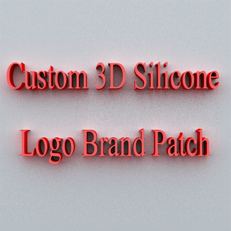 Custom Brand Logo Patch Iron On 3D Silicone Sticker /Contact Customer Service To Tell You How To Buy