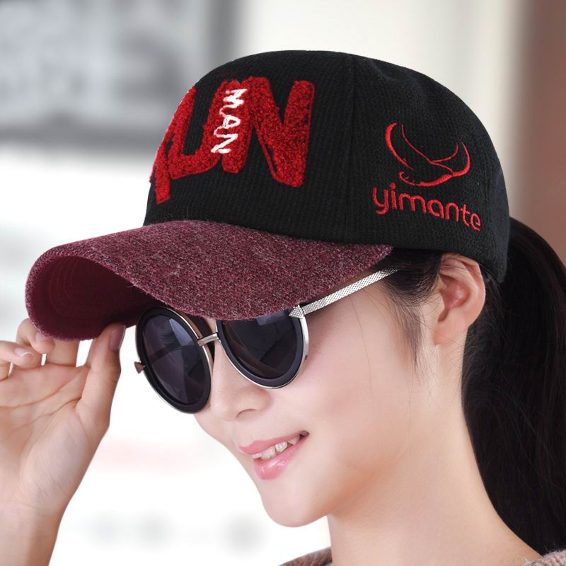 ФОТО  Hat female autumn and winter baseball cap embroidery women's caps knitted hats casual autumn sunhat