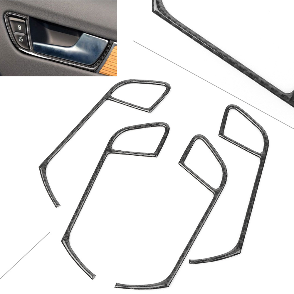 4PCS Car Interior Door Handle Panel Control Trim Cover for <font><b>Audi</b></font> <font><b>A4</b></font> B8 2009 2010 2011 2012 <font><b>2013</b></font> 2014 2015 2016 image