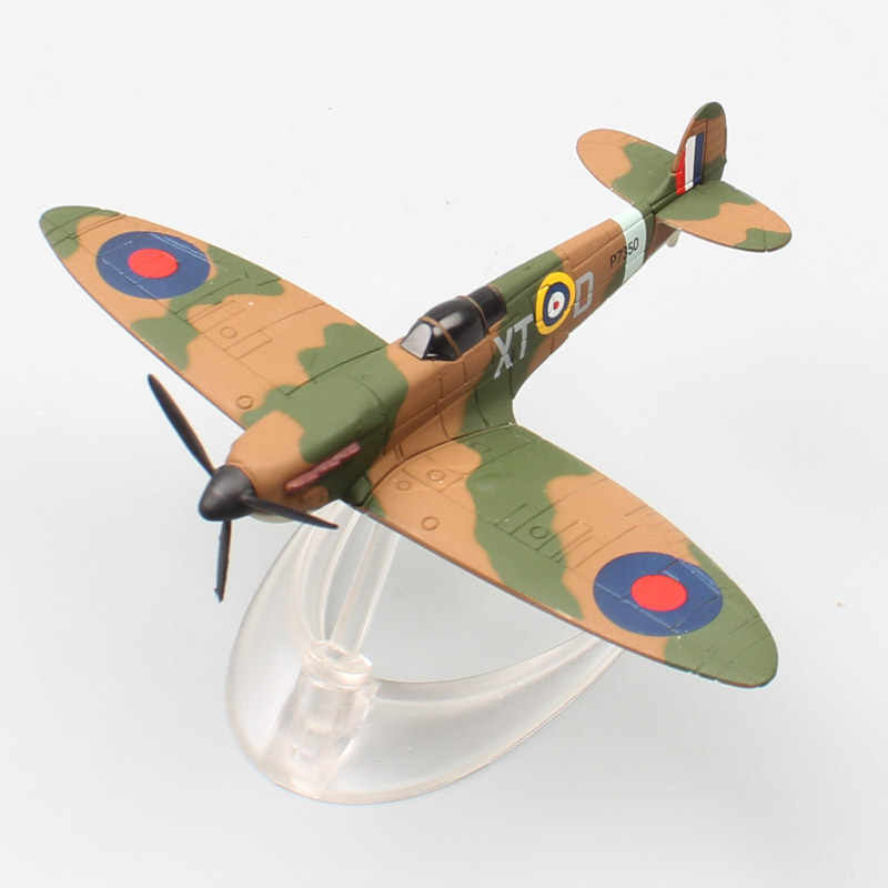 Childs 8cm Small Classic Corgi WWII RAF SuperMarine Spitfire Fighter Diecast Vehicle Plane Scale Aircraft Metal Models Miniature