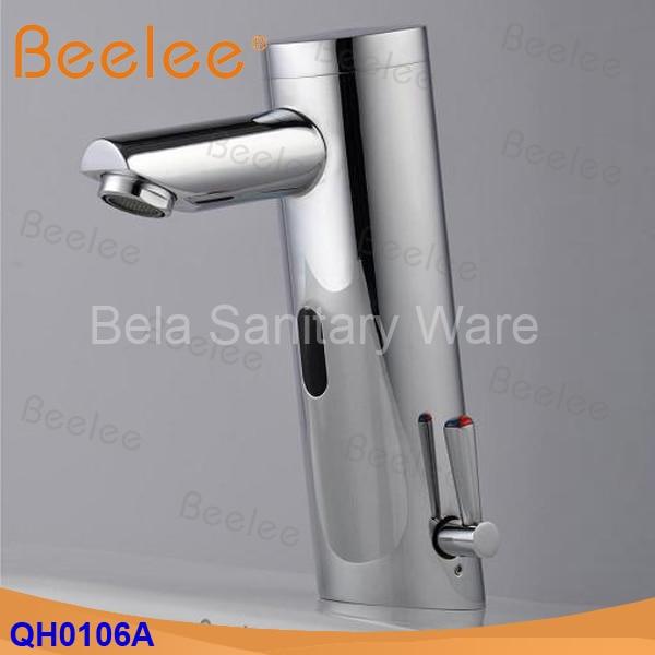 Beelee Contemporanea Ottone Mano libera Hot & Cold Miscelatore Automatico del Sensore Rubinetto di Lavaggio Bagno e Lavabo Rubinetto Cromato (QH0106A) - 2