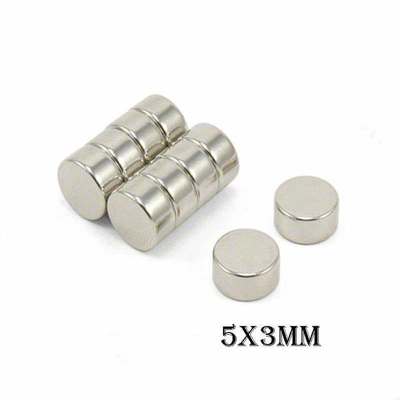 10/30/50/70pcs 5x3mm Neodymium Magnet Super Strong Rare Earth Magnet Round Powerful Small Magnetic Magnets Earth NdFeB Magnet