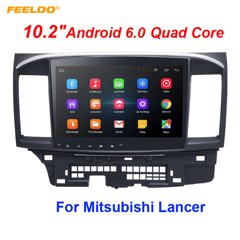 FEELDO 10.2 inch Android 8.1 10.2Quad Core Car Media Player With GPS Navi Radio For Mitsubishi Lancer EX(2007-present #971 feeldo 7inch android 4 4 2 quad core car media player with gps navi radio for nissan hyundai universal 2din iso gift am3900