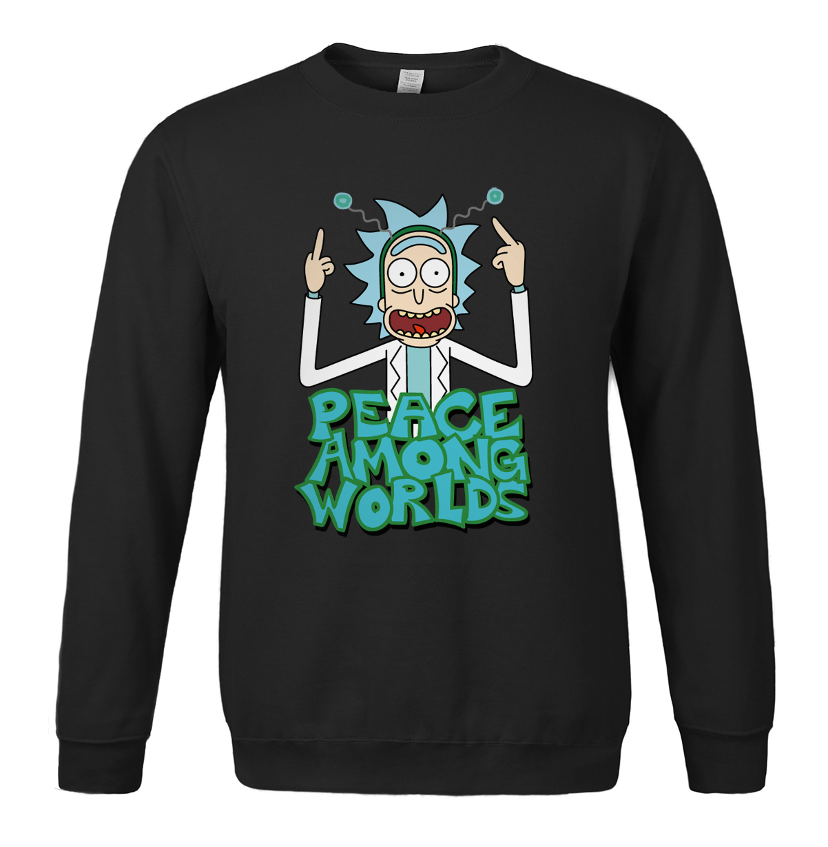 PEACE AMONG WORLDS Print Funny Rick And Morty Hot Sale Sweatshirt Fitness 2019 Spring Autumn Brand Hip Hop Harajuku sweatshirts