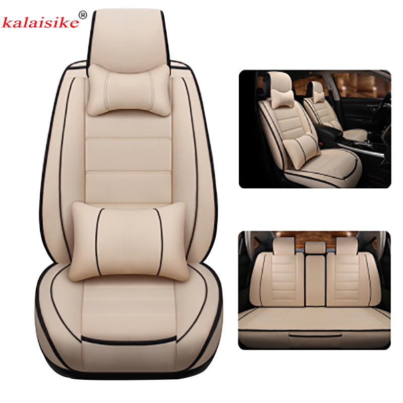 Kalaisike Linen Universal Car Seat Covers for Peugeot all models 206 307 407 207 2008 3008