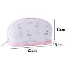 IVYSHION Cosmetic Storage Bag Portable Printing With Large Capacity Double Layer For Travel Handbag Organizer Makeup Storage