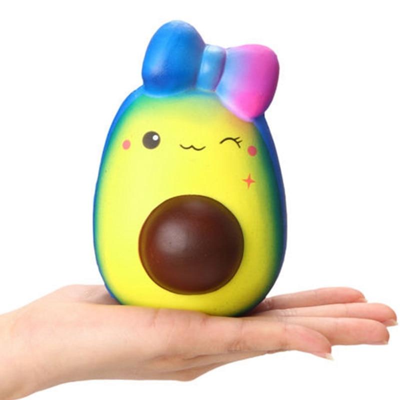 Squishy Jumbo Slow Rising Fruit Avocado Toy Slow Rising Antistress Ball Funny Squeeze Kawaii Food Squishy Funny Sqeeze Toy