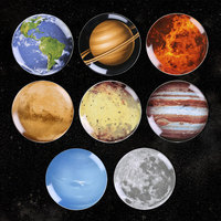 Decorative Hanging Planets Wall Plates Ceramic For Home Living Room Panels Decoration Accessories Table Porcelain Dinner Dishes