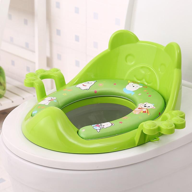 Portable Children Kids Baby Toilet Seat Warm Soft Skin Potty Chair Pad Cushion Baby Training Toilet Children Safe Hygiene