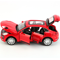 1/32 S600 Diecast Metal Car Models High Simulation Vehicle Toy with Light Music 6 Doors Can Be Opened Gifts for Children