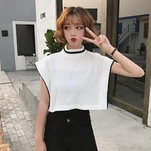 Mihoshop Ulzzang Korean Korea Ladies Trend Clothes White sleeveless vest Tanks Crop Tops