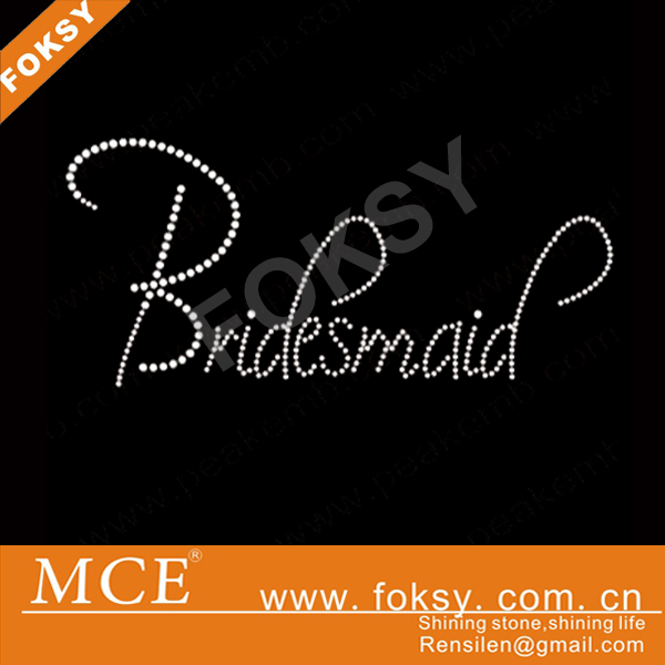 hot fix rhinestones clear bridesmaid iron on rhinestone transfers rhinestone letter transfer motif
