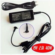 Нетбуки Ac Мощность адаптер Зарядное устройство 19V 2.1A для ASUS Eee PC 1015PW 1015PX 1015BX 1015CX 1015PEB 1215B 1101HGO 1015PEM 1005HA-V