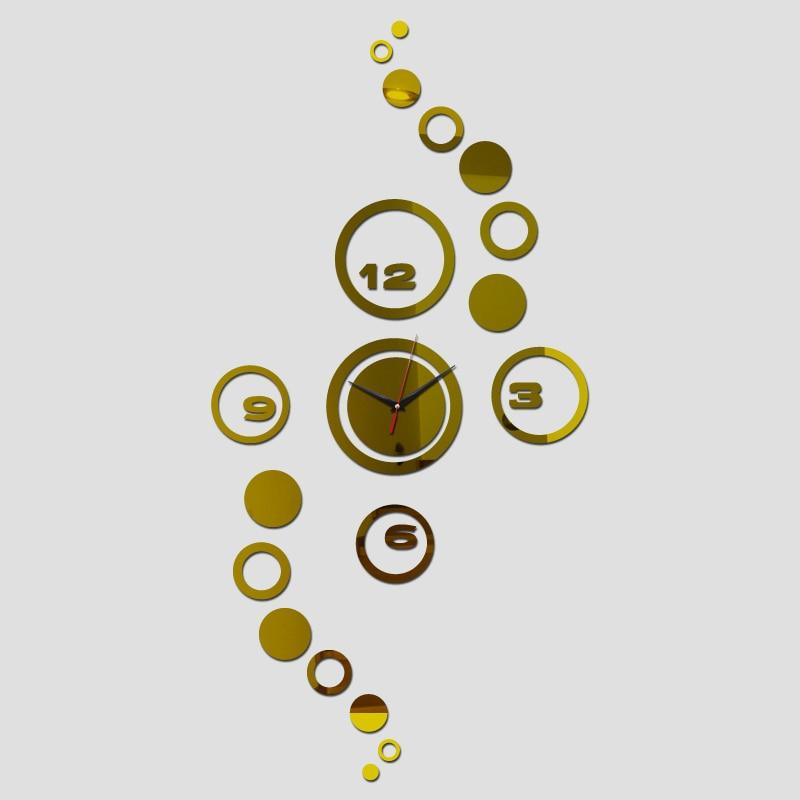 57d04c01e جديد ساعة مرآة الاكريليك هندسية الكوارتز أوروبا ووتش ساعات الحائط ديكور  المنزل diy 3d ملصقات وجيزة الفن