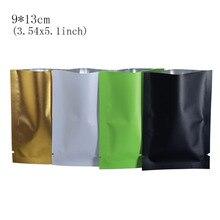 9*13cm Open Toped 4 Colored Heat Seal Vacuum Matte Mylar Aluminium Foil Packing Pouch 100Pcs/Lot Ferment Powder Storage Bags