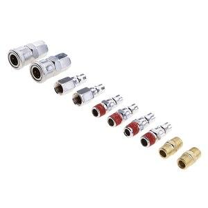 Image 1 - 10pcs Air Quick Connector Adapter For Air Couplers Tool Compressor Auto Industry les coupleurs dair Acopladores de aire