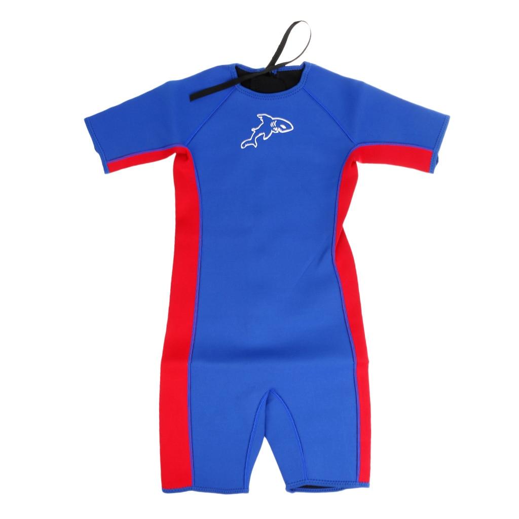 Children Kids Toddler Shorty Surfing Swim Diving Wetsuit Jumpsuit Blue XXS/XS/S/M/L/XL/XXL/XXXL
