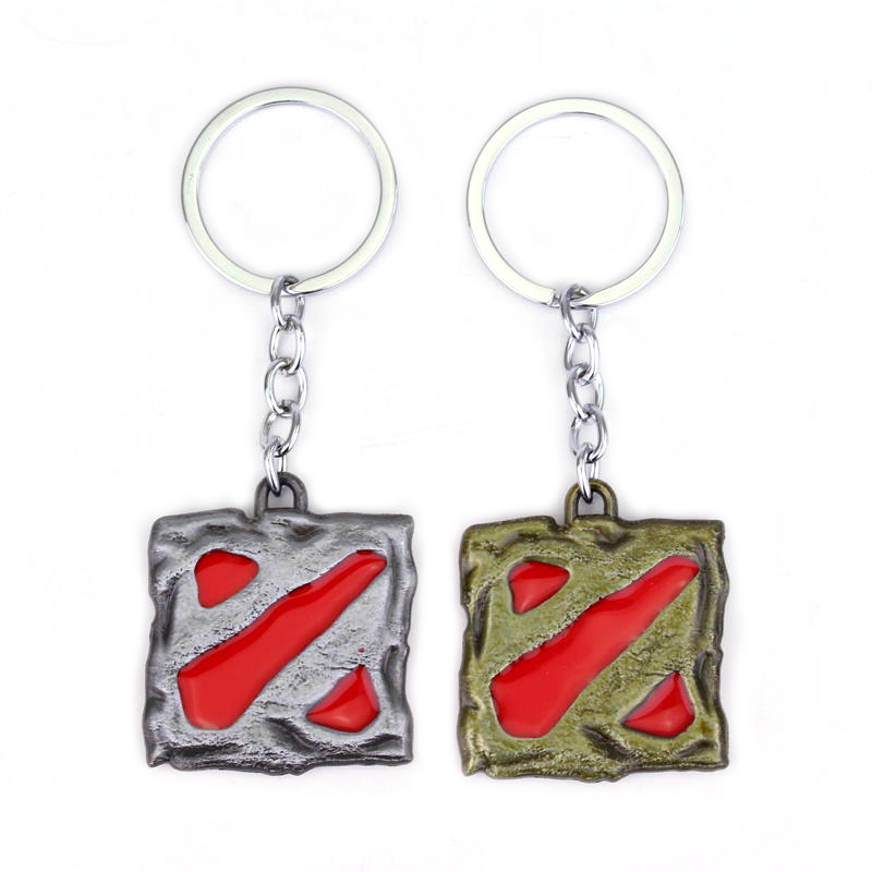 Game Theme Dota 2 Logo Keychain High Quality Keyring For Women Men Car Key Accessories