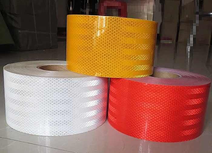 10CM Super Self-Adhesive PET Super Reflective Warning Safety Tape Truck Road Traffic Construction Site Floor Wall Warning Strip