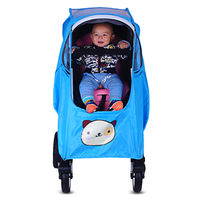 4 Colors Baby Stroller Accessories Universal Waterproof Rain Cover Wind Dust Shield Zipper Open For Baby Strollers Pushchairs Activity & Gear