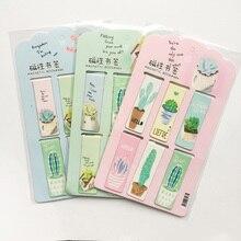 R14 6 шт./компл. свежий зеленый кактусов магнитные закладки для книг маркер страницы канцелярские принадлежности для школьных канцелярских товаров Бумага зажим
