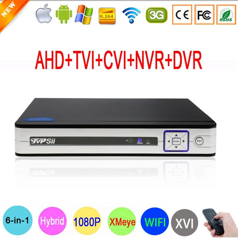 1080P Surveillance Camera Hi3520D Silver Panel 8CH 1080N Coaxial Hybrid Wifi 6 in 1 XVI CVI
