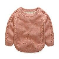 בני בני סוודר חם בחורף בתוספת קטיפה גידור סוודר צווארון עגול שרוול ארוך תינוקת תלבש סוודר סרוג בסוודרים