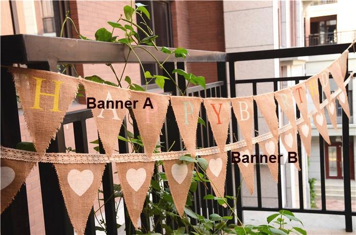 CHRISTENING Hessian Bunting Banner NEW BABY Vintage Burlap