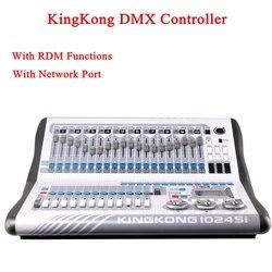 KingKong 1024Si DMX kontroler DJ sprzęt DMX512 oświetlenia scenicznego konsoli dla LED Par ruchome głowy reflektory Disco DJ kontroler