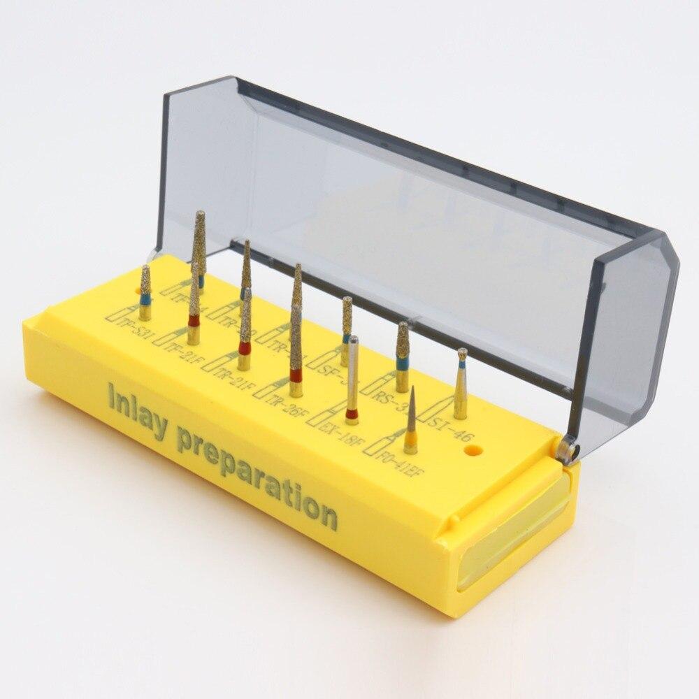 Набор для приготовления зубных инкрустаций (12 шт.), набор для алмазных стоматологических сверл, профессиональные стоматологические боры