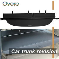 Overe 1Set Car Rear Trunk Cargo Cover For Toyota Highlander 2015 2016 2017 2018 Security Shield Shade Retractable accessories