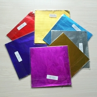 New Arrive Chocolate Package Tin Foil Baking Paper 7 Colours Brown Sugar Wrapping Paper Egg Tea