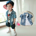 NEW fashion kids summer denim blouse denim jacket children outerwear girls children blouse boys shirt baby & kids mickey shirt