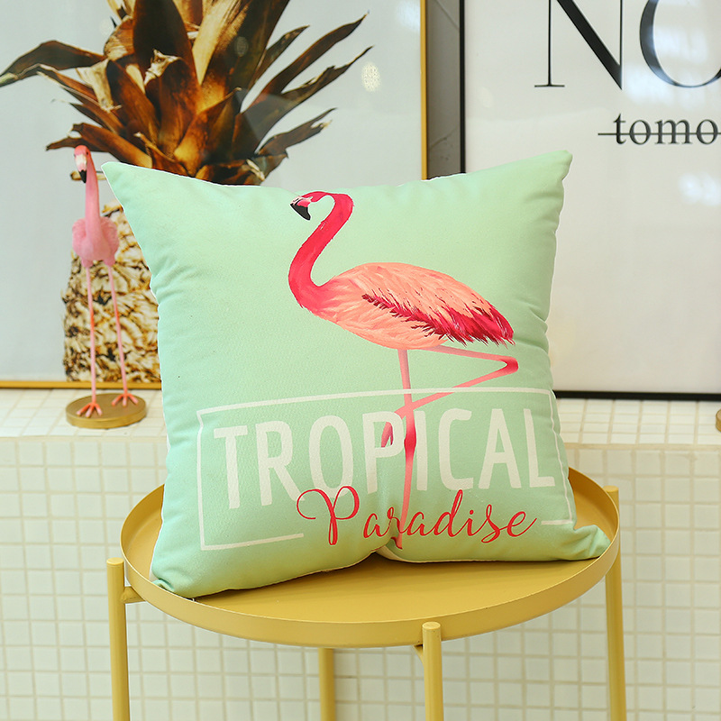 Cute Flamingo Cushion Pillow Case Flamingo Party Bedroom Sofa Home Decoration accessories Birthday/Wedding Favors and Gifts 7
