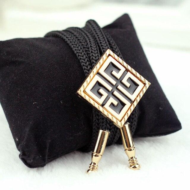 SHENNAIWEI 2016 Nuevos accesorios de moda collar de la cuerda de metal pajarita bolo tie hombres lot al por mayor