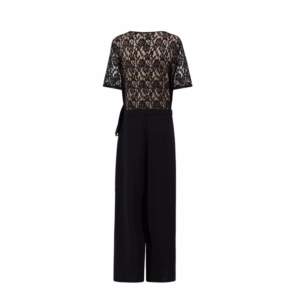 Kissmilk Women Plus Size Beklædning Casual Black Wrap Lace Patchwork - Dametøj - Foto 6