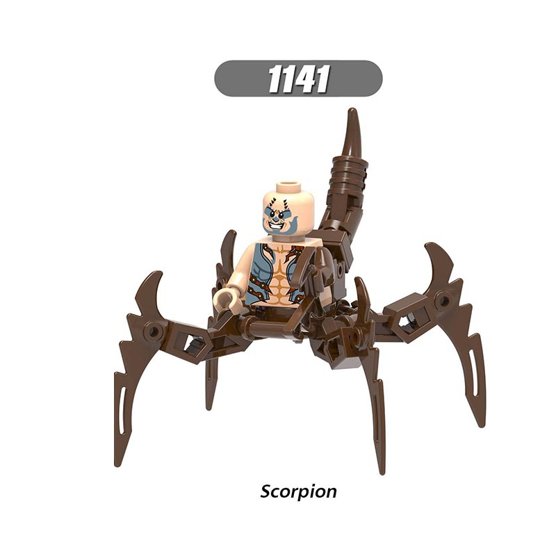 Single Sale LegoINGlys Super Heroes Spider-Man Scorpion Attack Mini Figures Building Blocks Bricks Toys Children Boys Gift X0241