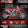 CR CRF 250 450 CR250F X CR450F X FX 22 Estilo Gráficos personalizados Fundo Decalques Adesivos Motocicleta Dirt Bike MX Racing Parte