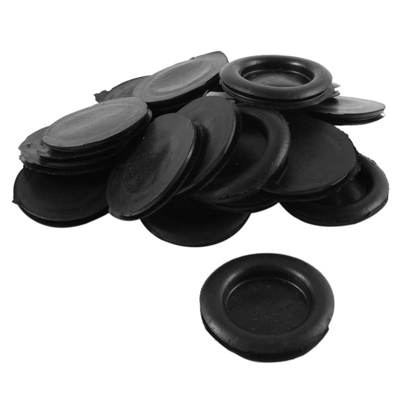 Wire Cable Protective Armature Rubber Grommets 40mm Dia 20PCS Black