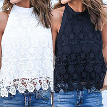 2017 summer Sexy Women Crochet Lace Bellyband Blouse Ladies Casual Backless Halter Shirt Women Blouses Tops
