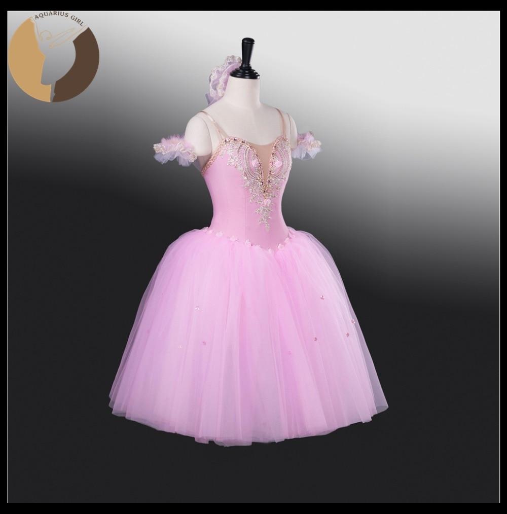 05a6b144c0 Adulto MIDI Vestidos Ballet rendimiento trajes color rosa Tutus 6 capas  lycra vestido Niñas etapa desgaste romántico Vestidos en Ballet de La  novedad y de ...