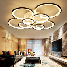 hot deal buy  remote control led light living room bedroom modern led ceiling lights luminarias para sala dimming led ceiling lamp fixtures