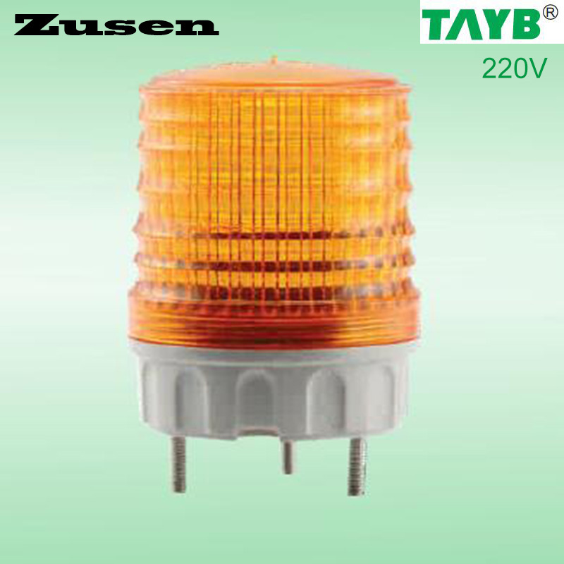 Zusen TB5051 220V Yellow Led  Signal Lamp Warning Light LED Small Flashing Light