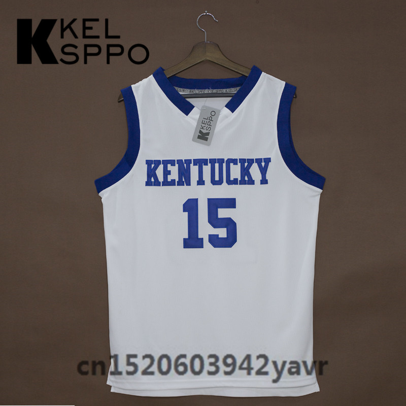... Custom Adult Throwback Basketball Jerseys 15 DeMarcus Cousins Kentucky  Wildcats Embroidered Basketball Jersey Size XXS ... f7c0da7c1