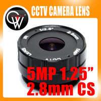 HD 5MP 2.8mm CS lentille f1.2 1/3 ir cctv lentille cs monture pour jour/nuit CCD sécurité CCTV caméra IP